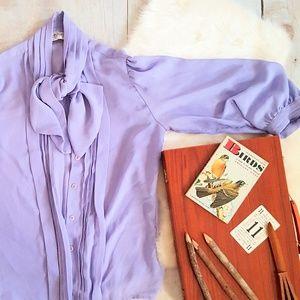 Vintage Lavender Blouse